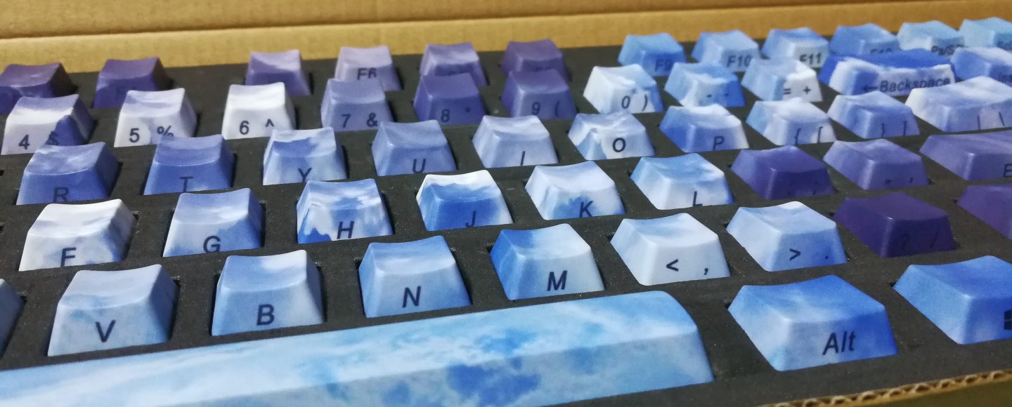 PBT Dye Sub Keycaps Up in the cloud
