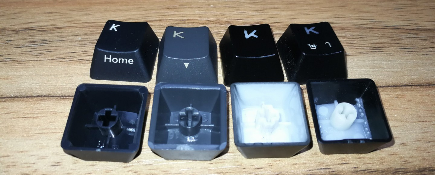 Keycaps legend printing comparison
