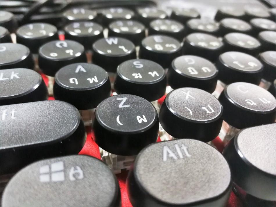 Vintage Keycaps - Black - แคปกลมดำ2