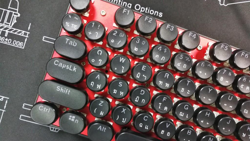 Vintage Keycaps - Black - สีดำแคปกลม