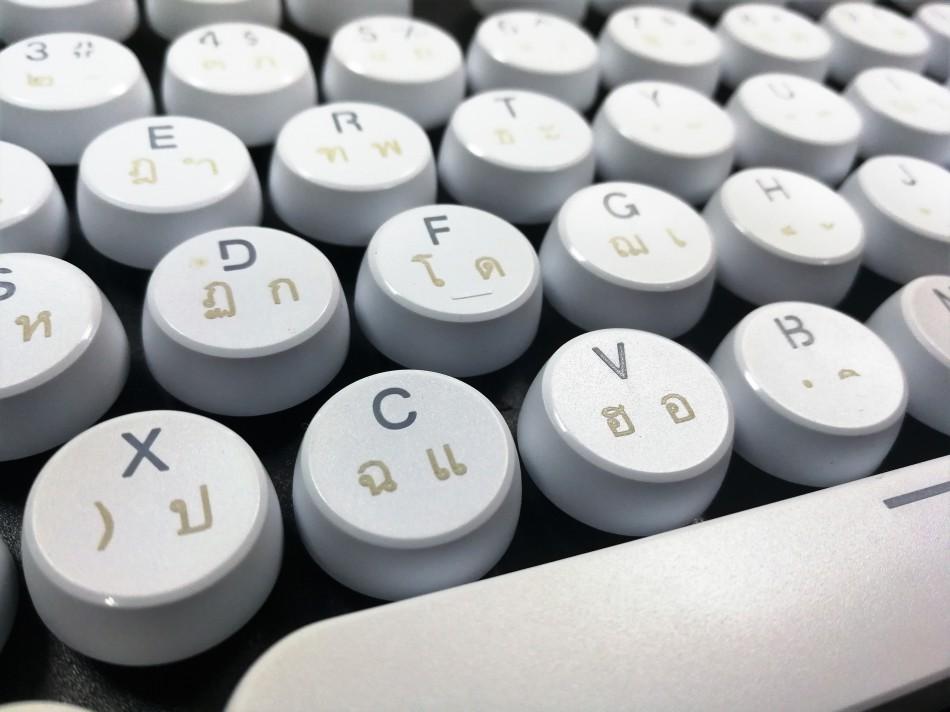 Vintage Keycaps - White - แคปกลมขาว2