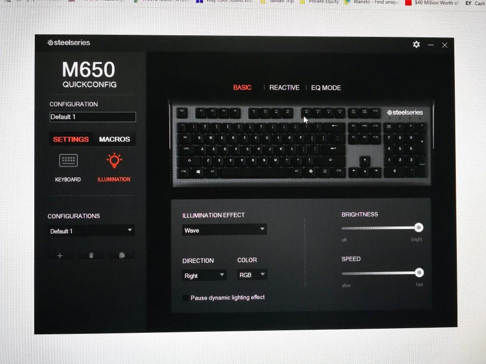 Steelseries Apex M650 Lighting
