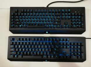 Razer BlackWidow Chroma X vs V2 Blue Light