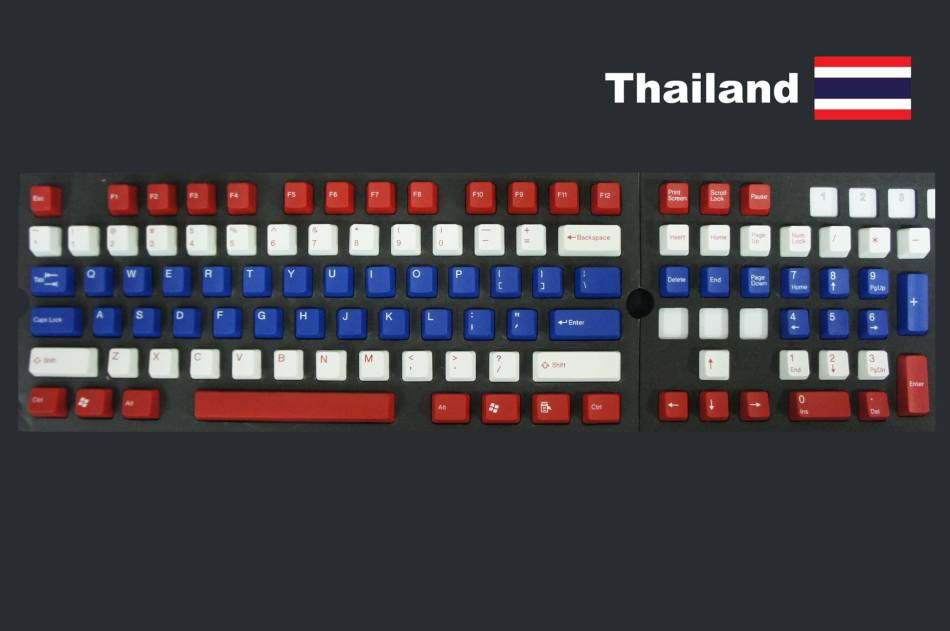 Thai Flag Keycaps