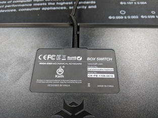 Kailh Limited Box Switch Keyboard - Bottom Label