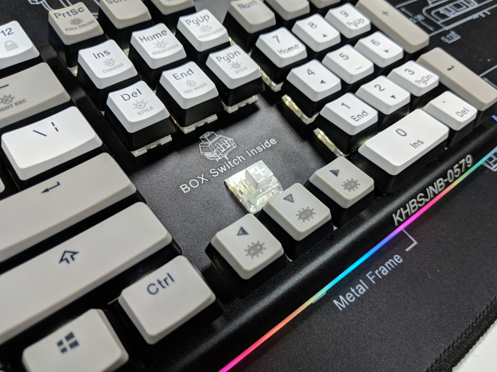 Kailh Limited Box Switch Keyboard - Switch + Logo (Light On)